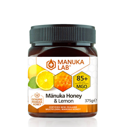 Mānuka Honey 85+ MGO Lemon 375G - Manuka Lab UK