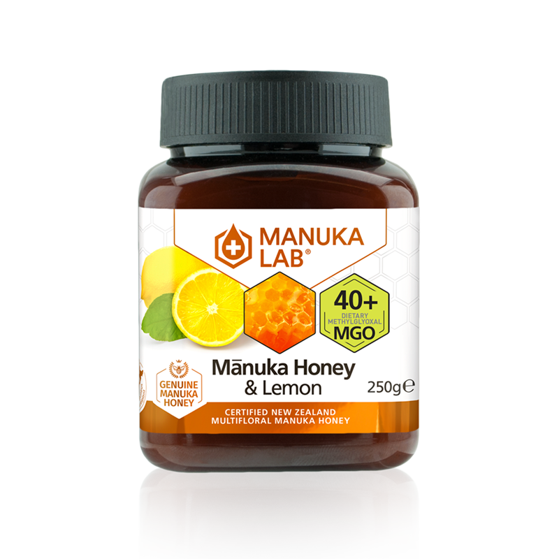 Mānuka Honey & Lemon 40+ MGO 250G - Manuka Lab UK