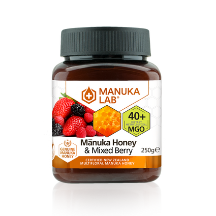 Mānuka Honey & Mixed Berry 40+ MGO 250G - Manuka Lab UK