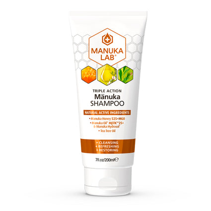 Triple Action Shampoo - Manuka Lab UK