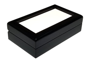 "Keepsake Box Black Laquer 3""x6"""