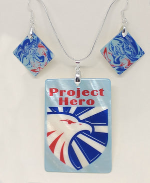 Project Hero Jewelry  Rectangle Pendant