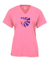Eagle Crest Ladies Pink V-Neck Performance T-Shirt