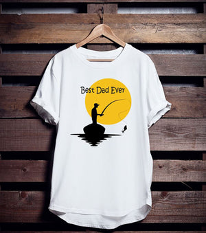 Best Dad Ever!    Father's Day Fishing T-Shirt