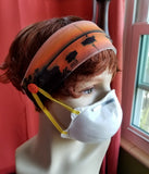 Headband w Buttons Sailboat Sunset
