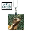 Iguana on Mother of Pearl Jewelry