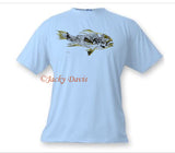 FishTales Rock Bass w/gold Men's T-Shirts