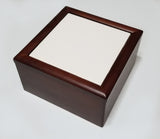"Jewelry Box Mahogany w/ 6""x6"" tile"
