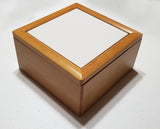 "Jewelry Box Maple w/ 6""x6"" tile"