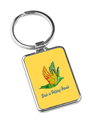 Birds in Helping Hands Key Chain Metal