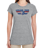 Project Hero Honor Ride Ladies Grey Performance T-Shirt