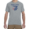 "PROJECT HERO Eagle Crest men's Grey Performance T-Shirts ""cotton feel"""