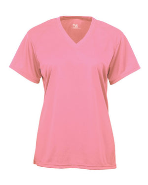 Pink V-Neck Performance T-Shirt