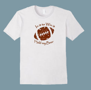 In It To Win It Football Men's T-Shirt White