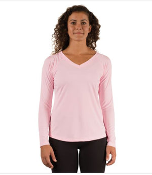 Ladies Solar Long Sleeve V Neck