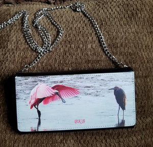 Spoonbill Purse Black PU leatherette