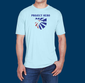 Project Hero Eagle Crest Men's Cool & Dry Performance T-Shirt