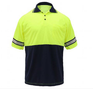 Safety Polo with Reflective strips