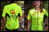 We're Bikin' Now! Flamingo Bike Jersey