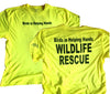 Bird in Helping Hands Wildlife Rescue Yellow T-Shirt