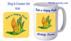 Birds in Helping Hands Coffee Mugs