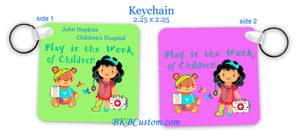 """Play is the Work of Children"" Key Chain"