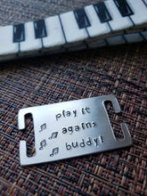 Load image into Gallery viewer, play it again Dog Collar and Tag set (size: Teacup)