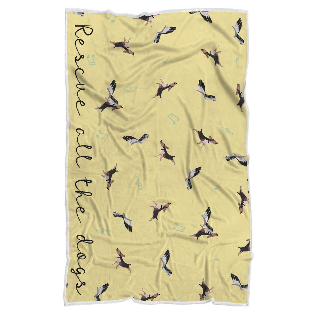 Rescue All The Dogs Sherpa Blanket