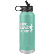 Load image into Gallery viewer, NEW! Live Love Adopt Water Bottle