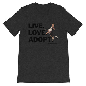 NEW! Live.Love.Adopt. Buddy Mercury Tee