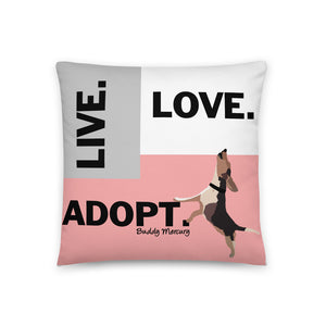 Live.Love.Adopt Pillow - Traditional