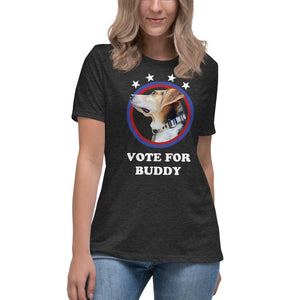 Vote for Buddy Ladies Relaxed Tee