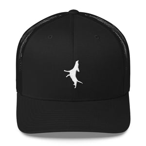 White Embroidery Trucker Cap