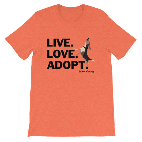 Live.Love.Adopt. Buddy Mercury Tee