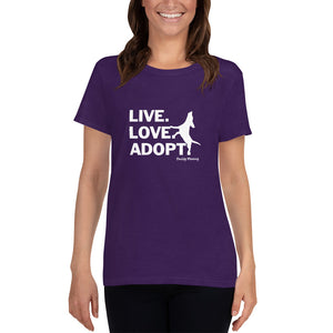 NEW! Live.Love.Adopt Ladies Fitted Tee