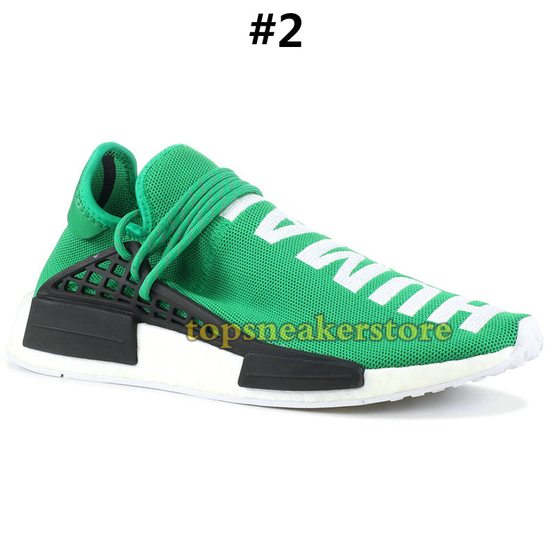 2e05e91a00e 2019 NMD Human Race Mens Running Shoes With Box Pharrell Williams Sample  Yellow Core Black Sport Designer Shoes Women Sneakers 36-45