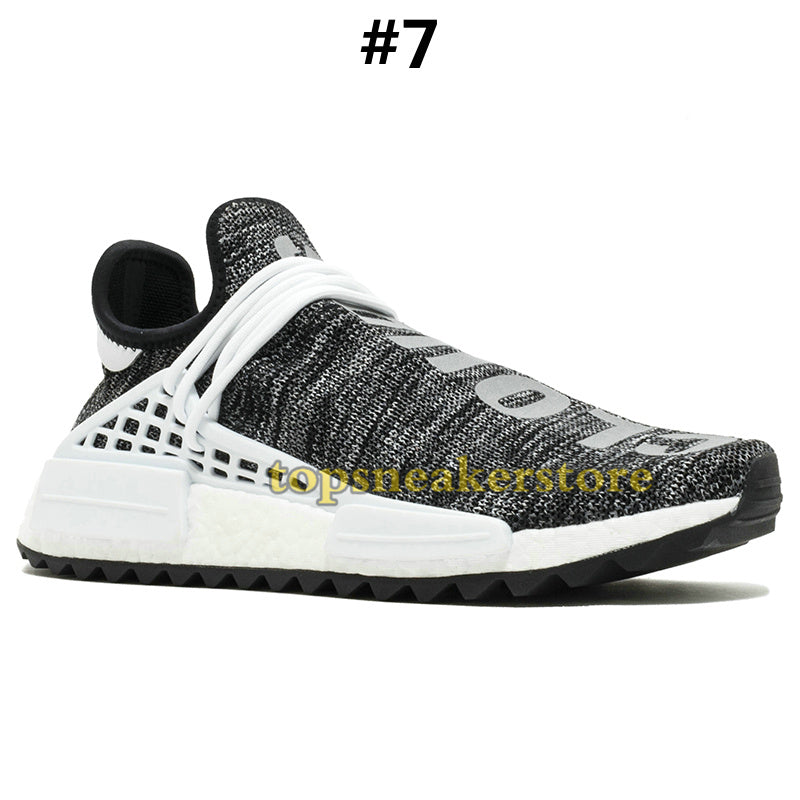 a790d296e ... 2019 NMD Human Race Mens Running Shoes With Box Pharrell Williams  Sample Yellow Core Black Sport ...
