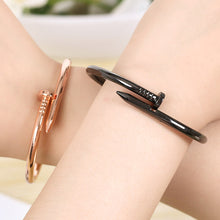 Load image into Gallery viewer, Titanium Screw Nail Lover Bracelet For Women Bangle Lover Bracelet Jewelry