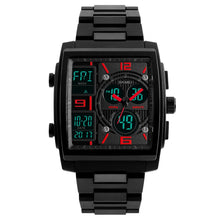 Load image into Gallery viewer, Men's Watch Large Square Military Sports Analog Digital Outdoor Waterproof Wrist Watch