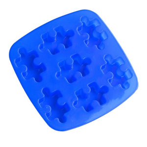 7-Cavity Puzzles Silicone Cake Mold Chocolate Craft Candy Baking Mould For DIY Dessert (Random Color)