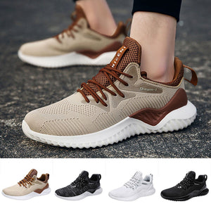 Mens Fashion Breathable Running Sport Flat Athletic Sneakers Round Toe Shoes