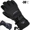Waterproof Unisex Winter Black Gloves For Skiing Snowmobile Motorcycle Riding
