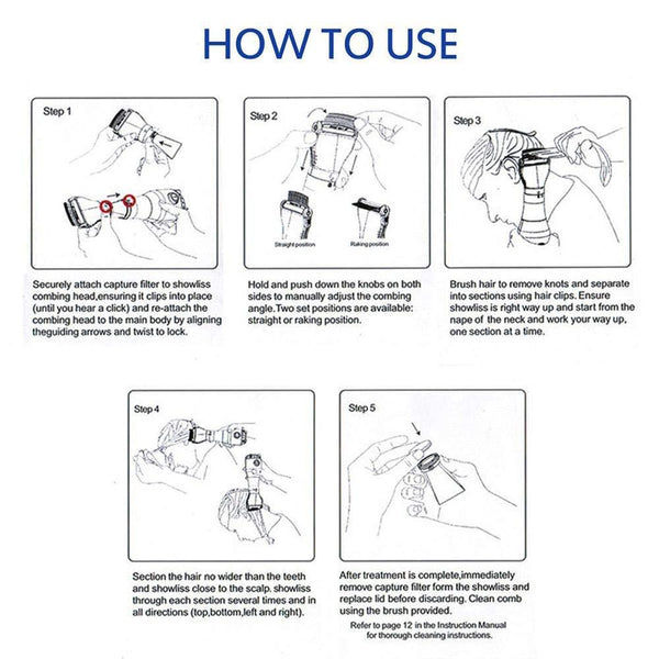 How to use Electric Lice Comb