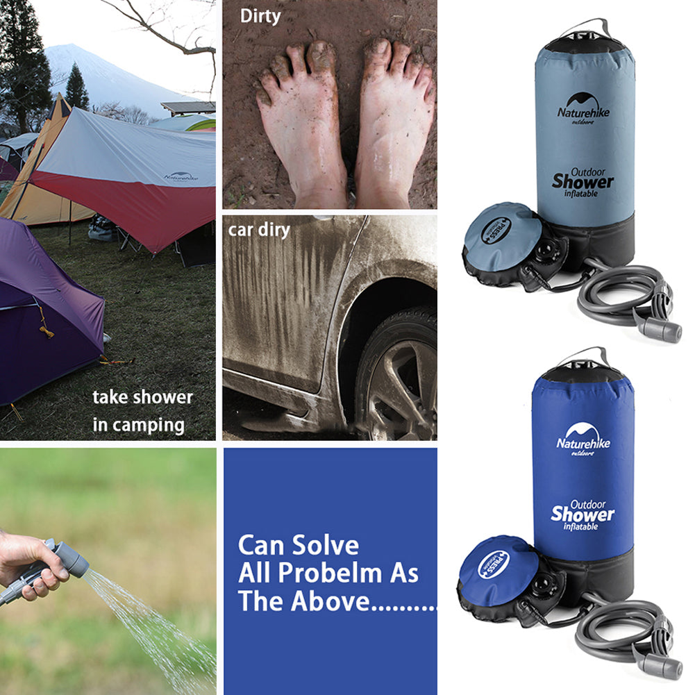 Things can use Inflatable Camping Shower to clean up