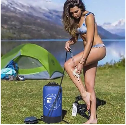 Women using  Inflatable Camping Shower