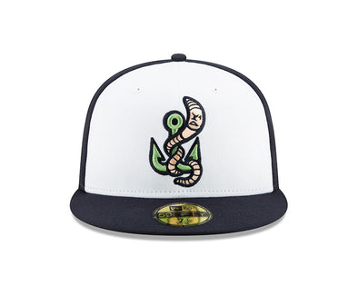 Gwinnett Stripers New Era NEW Alternate Worm Low Profile 5950 Cap- White/Navy