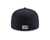 Gwinnett Stripers New Era NEW Alternate Worm 5950 Cap- White/Navy