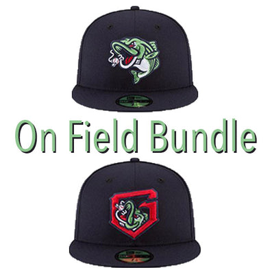 Gwinnett Stripers On Field Cap Bundle- 2 Pack