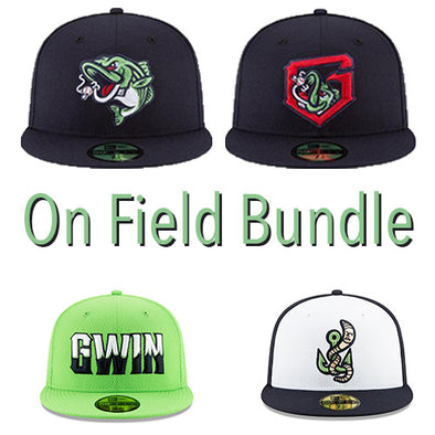 Gwinnett Stripers On Field Cap Bundle- 4 Pack