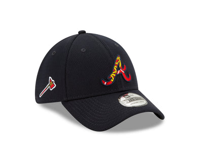 Atlanta Braves New Era Script A 2020 BP 3930 Cap- Navy